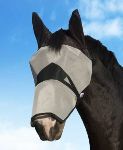 KM Elite Fly Mask Long Nose with Ears