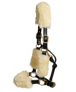 Sheepskin Headcollar Set Natural