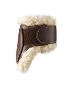 Kentucky Horsewear Leather Sheepskin Fetlock Boots Brown 2