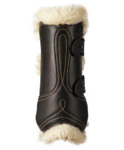 Kentucky Horsewear Leather Sheepskin Tendon Boots Black 2