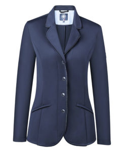 Harcour Ladies Competition Show Jacket Cella Navy Front