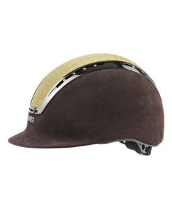 UVEX Suxxeed Glamour Riding Hats Brown Gold