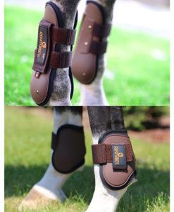 Kentucky Horsewear Set Air Tendon and Fetlock Boots Brown