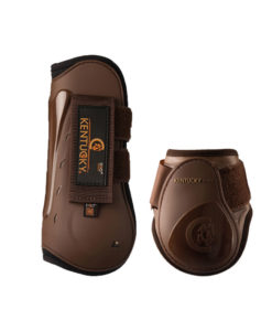 Kentucky Horsewear Set Air Tendon and Young Horse Fetlock Boots Brown