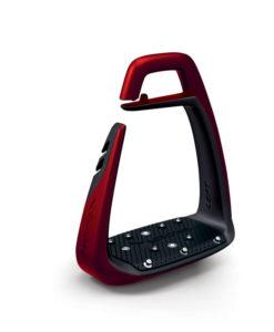 Freejump Soft Up Classic Stirrups Pearl Red Black