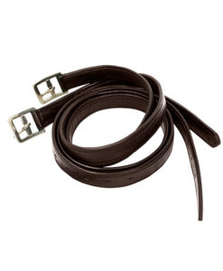 KM Elite Primera Soft Laminated Stirrup Leathers Brown