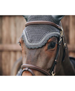 Kentucky Horsewear Fly Veil Wellington Stone and Pearl Grey