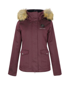 Harcour Aude Womens Parka Jacket Burgundy